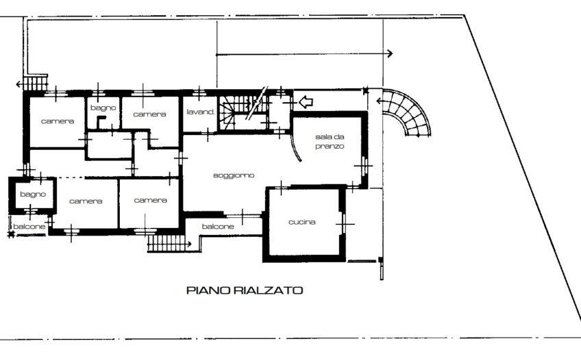 Rif. B421 – UBOLDO – APPARTAMENTO IN VILLA POSTO AL PIANO TERRA