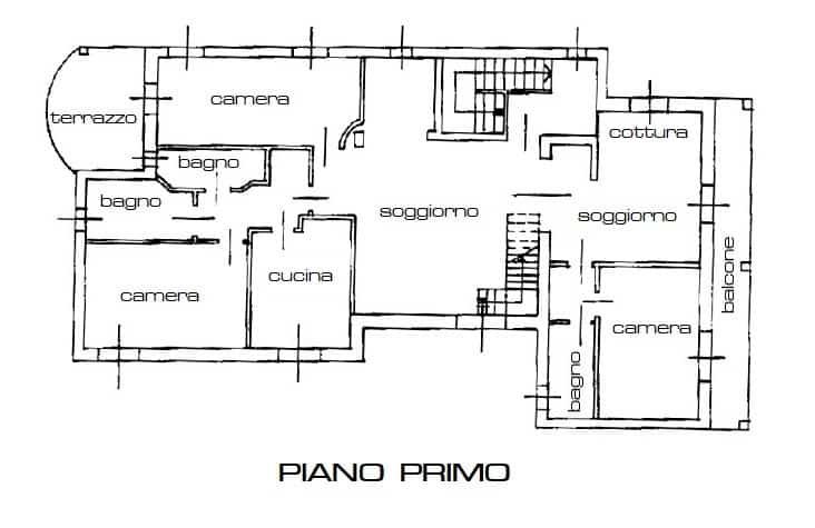 Rif. B422 – UBOLDO – APPARTAMENTO IN VILLA POSTO AL PIANO PRIMO