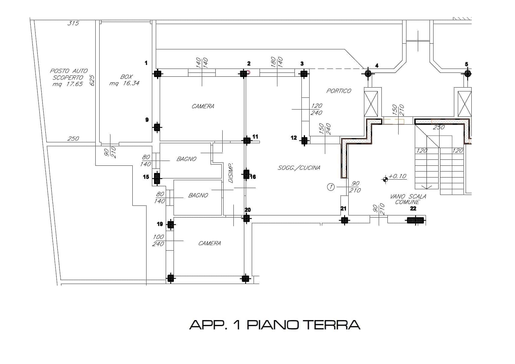App. 1 PIANO TERRA